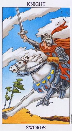 11 caballo de espadas tarot rider waite