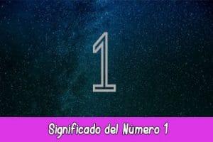 Significado del número 1