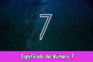 Significado del número 7
