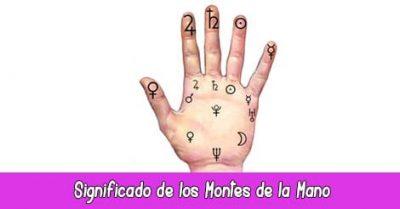 Significado montes de la mano