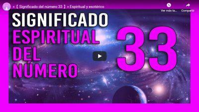significado espiritual del numero 33