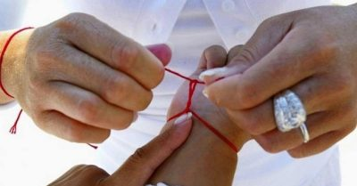 cinta roja contra el mal de ojo