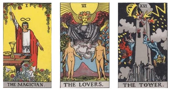 el mago los enamorados y la torre