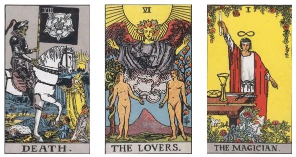 la muerte los enamorados y el mago