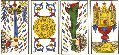 los 4 palos del tarot de marsella