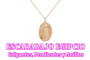 Escarabajo Egipcio colgantes pendientes y anillos