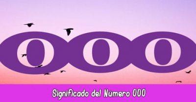 Significado del Número 000